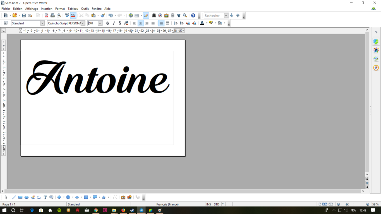 07 modifier les marges et centrer le texte tuto quilling 1