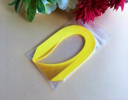 """100 Bandes de papier quilling 7mm """"JAUNE SOLEIL"""""""
