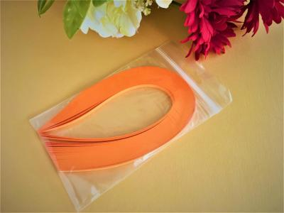 "100 Bandes de papier quilling 5mm ""ORANGE CLEMENTINE"""