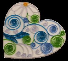 160g 3mm coeur papier quilling paperolles diy loisirs creatifs spirale vert bleu blanc fleur