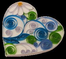 160g 5mm coeur papier quilling paperolles diy loisirs creatifs spirale vert bleu blanc fleur