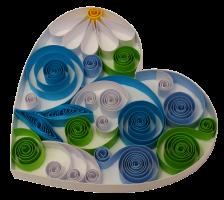 160g 9mm coeur papier quilling paperolles diy loisirs creatifs spirale vert bleu blanc fleur