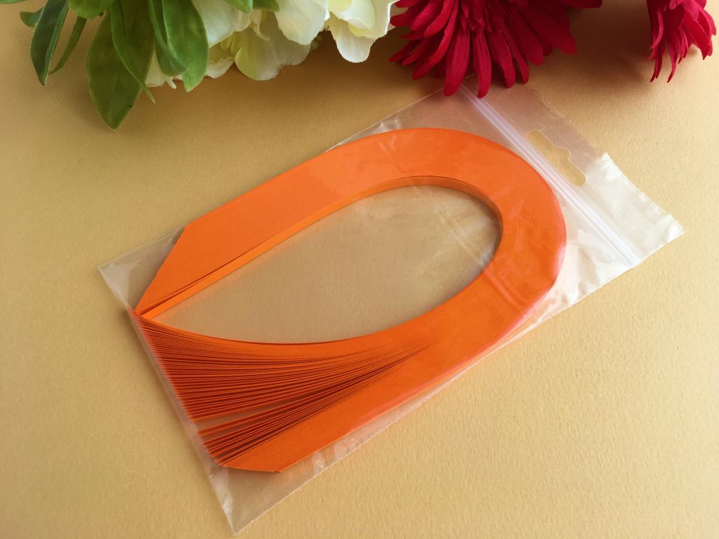 17 bande papier quilling loisir creatif orange vif