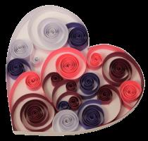 1cm 160g coeur papier quilling paperolles diy loisirs creatifs spirale
