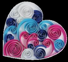 1cm 210g coeur papier quilling paperolles diy loisirs creatifs spirale