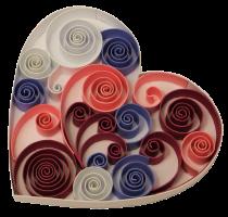 1cm 270g coeur papier quilling paperolles diy loisirs creatifs spirale