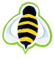 Abeille insecte broderie papier guepe loisir creatif eugenie patron modele