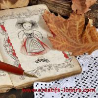 Alsacienne carte a broder broderie sur papier loisir creatif feuille automne