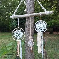 Anneau cercle bois bambou gabarit quilling loisir creatif diy fil macrame noeud attrape reve