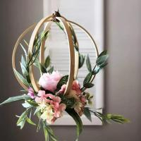 Anneau cercle bois bambou gabarit quilling loisir creatif diy fleur