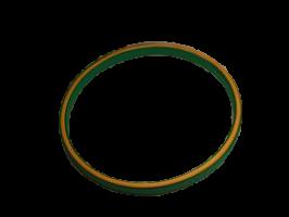Anneau cercle rond cerceau bois bambou gabarit quilling paperolle bande papier contour vert interieur exterieur