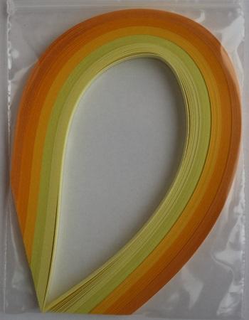 Assortiement jaune bande papier quilling loisirs creatifs 03