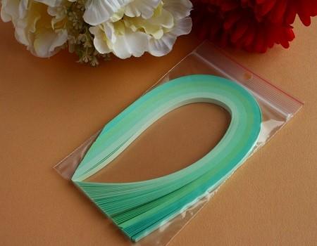 Assortiment bande papier quilling loisir creatif vert clair
