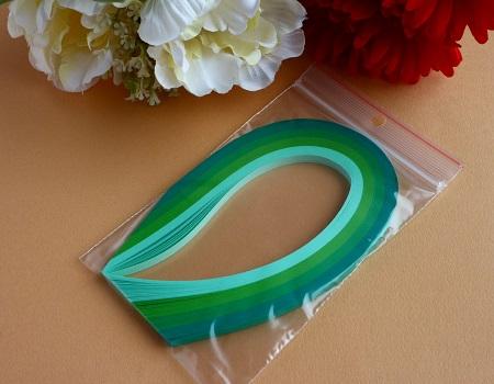 Assortiment bande papier quilling loisir creatif vert fonce