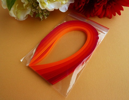 Assortiment orange rouge bande papier quilling loisirs creatifs 00