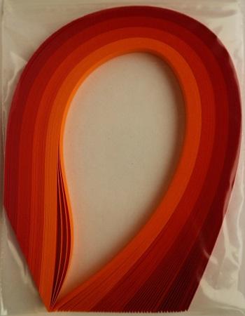 Assortiment orange rouge bande papier quilling loisirs creatifs 03