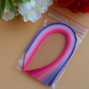 Assortiment rose violet bande papier quilling loisirs creatifs 00