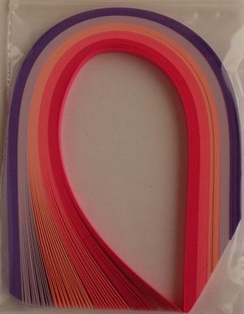 Assortiment rose violet bande papier quilling loisirs creatifs 02