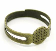 Bague ajustable à plateau modèle 2 couleur bronze ou argent