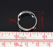 Bague support quilling a decorer ajustable alliage de fer diy customiser dimension taille