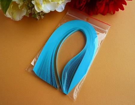 Bande de papier quilling loisirs creatifs bleu alize 01