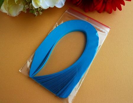 Bande de papier quilling loisirs creatifs bleu turquoise 01