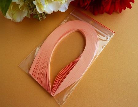 Bande de papier quilling loisirs creatifs orange saumon 01