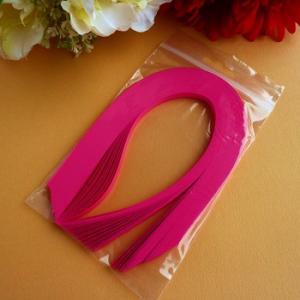 Bande de papier quilling loisirs creatifs rose fuchsia 01