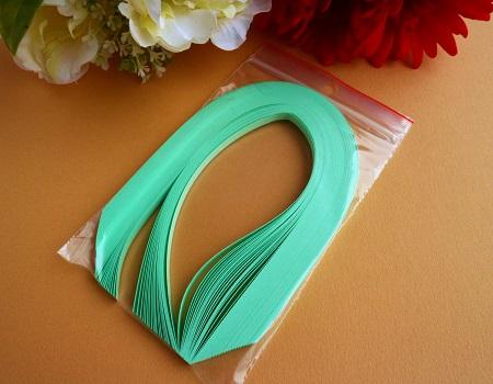 Bande de papier quilling loisirs creatifs vert clair 01