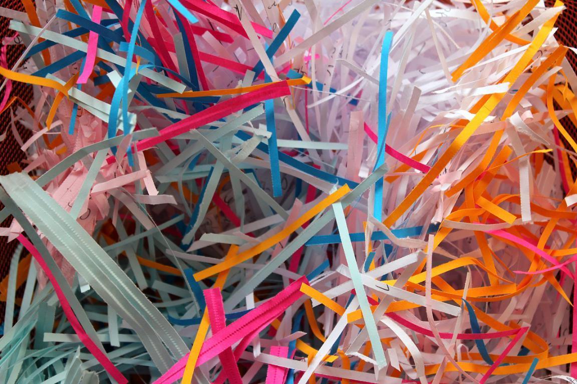 Bande papier dechiquete dechiqueteuse destructeur couleur quilling paperolles