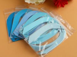 Bande papier quilling loisir creatif bleu 01