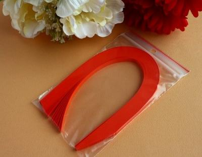 "100 Bandes de papier quilling 5mm ""ORANGE CARDINAL"""