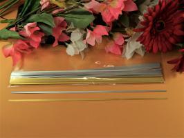 Bande papier quilling or argent 120g 3mm metallique brillant