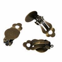 Boucles d oreilles dormeuse pince bronze sans rebord support bijoux quilling vue dessous