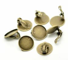 Boucles d oreilles dormeuse pince bronze support bijoux quilling vue dessous