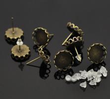 Boucles d oreilles puce bijoux support quilling clou fantaisie bronze vue dessous copie