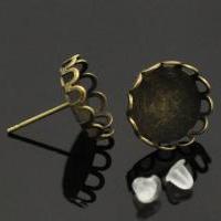 Boucles d'oreilles puces fantaisie, support bijoux quilling BO4