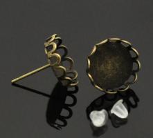 Boucles d oreilles puce bijoux support quilling clou fantaisie bronze