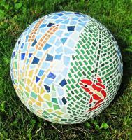 Boule mosaique deco de jardin 25 cm grenouille 1