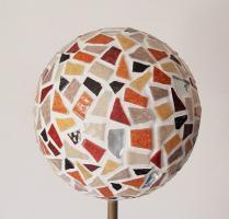Boule mosaique deco de jardin marron 1