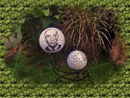 Boule mosaique deco de jardin portrait de louis de funes 1