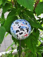 Boule mosaique deco de jardin vache