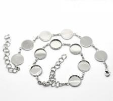 Bracelet chaine bijoux support quilling argent vue recto verso