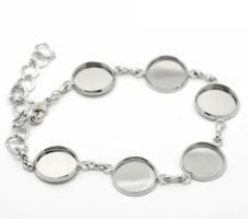 Bracelet chaîne support bijoux quilling argenté