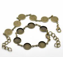 Bracelet chaine bijoux support quilling bronze vue dessous dessus