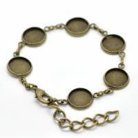 Bracelet chaine bijoux support quilling bronze