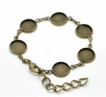 Bracelet chaîne support bijoux quilling bronze