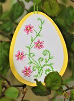 Broderie papier oeuf loisir creatif eugenie fleur arabesque