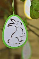 Broderie papier oeuf paques loisir creatif eugenie lapin debout