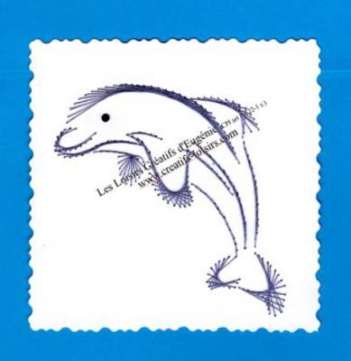 Broderie sur papier carte a broder dauphin loisir creatif eugenie 03